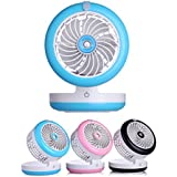 VERTAST 4 Modes mini Table Humidifier Fan Built-in Rechargeable Battery Cooling Replenishment Fan, blue