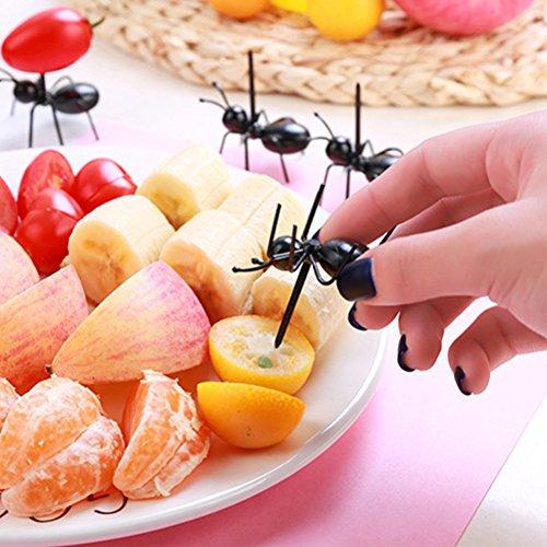 36Pcs Fruit Toothpick Dessert Forks, Plastic Ants Animal Appetizer Forks by TableRe (Image #1)