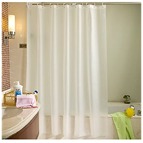 Eforgift Water Resistant PEVA Shower Curtain Liner Mould Proof Non Toxic Eco Friendly Durable Plastic Bath Or Easy Clean Standard 72 X