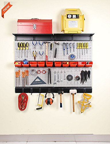 Ultrawall Garage Storage, Pegboard with Hooks Garage Storage Bins Tool Board Panel Tool Organizer