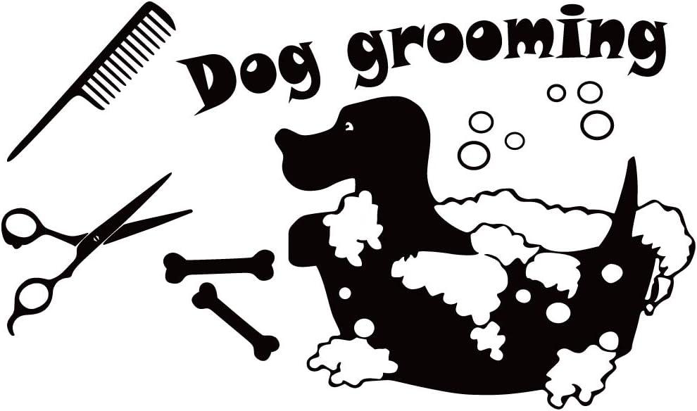 FENCOSYN Dog Grooming Wall Decal Vinyl Pets Shop Bath Stickers Home Decor