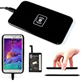 Wireless Charger Kit, AYAMAYA Qi Wireless Charger Charging Pad (Black) + Receiver for Samsung Galaxy Note 3 qi wireless Charger Accept Coil