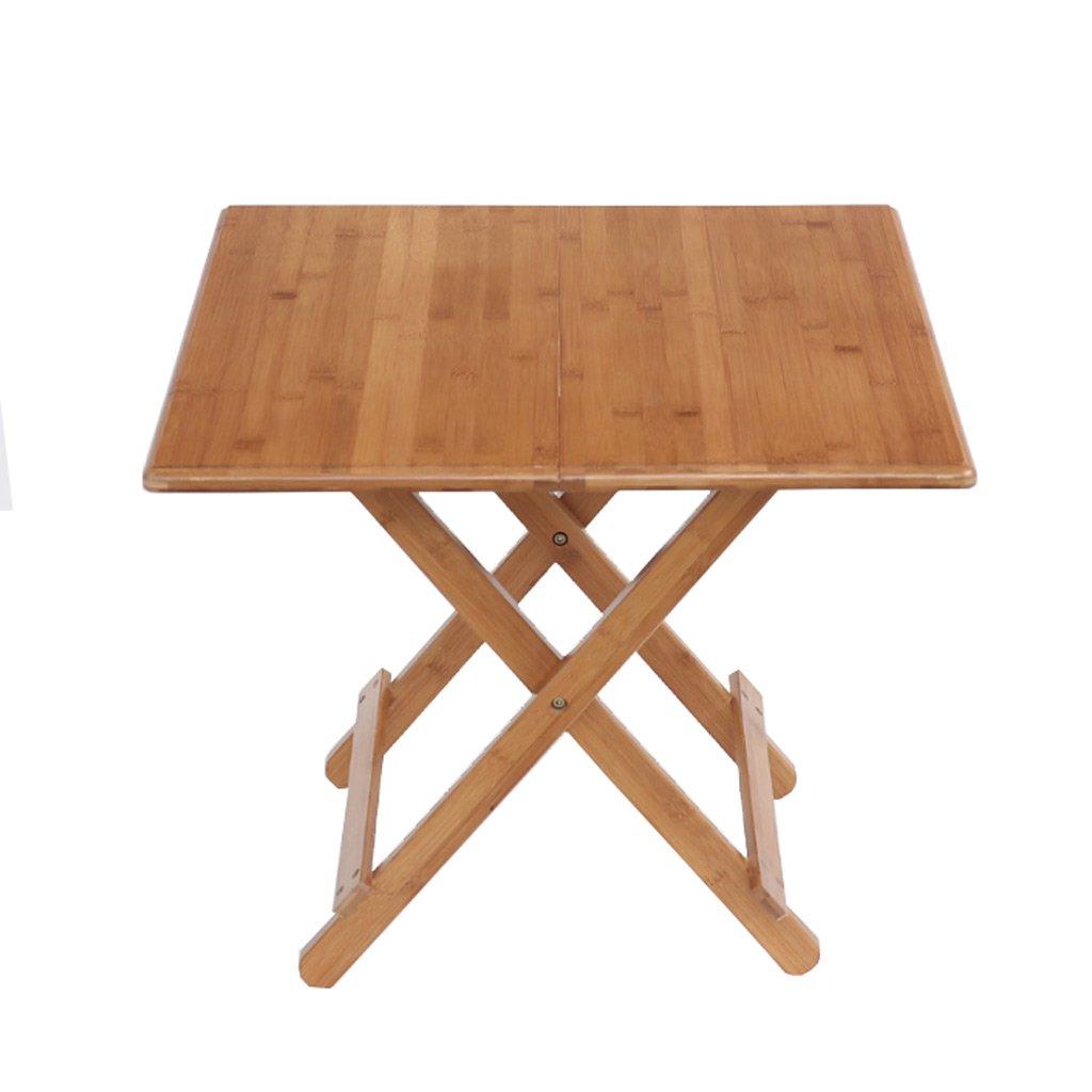TMY Klapptisch Haushalt Esstisch Portabilität Tisch Multifunktions Bambus Tisch Studie Tabelle Freizeit Tisch (Größe : 60  60  50CM)
