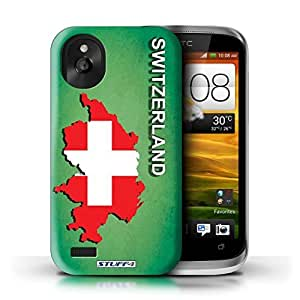 KOBALT? Protective Hard Back Phone Case / Cover for HTC Desire X | Switzerland/Swiss Design | Flag Nations Collection