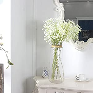 """Duovlo 10pcs Babies Breath Flowers 23.6"""" Artificial Gypsophila Bouquets Real Touch Flowers for Wedding Home DIY Decor 4"""