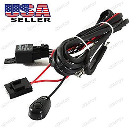 LED ON//OFF Switch For Cars Fog Lights HID Work lamp New Relay Harness Wire Kit