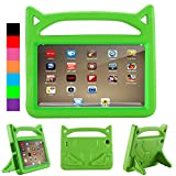 Cartoon Kids Case for All-New Fire 7 Tablet with Alexa - ANTIKE Shockproof Light Weight Handle Kids Friendly Case for Amazon Kindle Fire 7 2017 Tablet (7th Generation, 2017 Release) (Grass)
