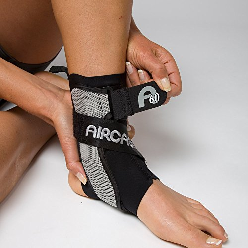 Aircast A60 Ankle Support Brace, Left Foot, Black, Small (Shoe Size: Mens 4-7 / Womens 5-8.5)