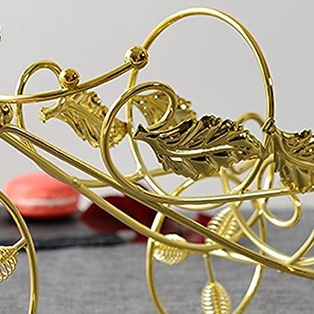 Vinotecas Nan Bastidores de Vino Plating Bronce de Oro Botella Individual de Hierro Comodidad Creativa Sala de Estar (Color : Oro)