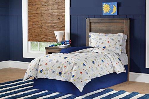Lullaby Bedding 200-TTSPACE Space Collection Cotton Printed Duvet Set, Twin (Alien Duvet)