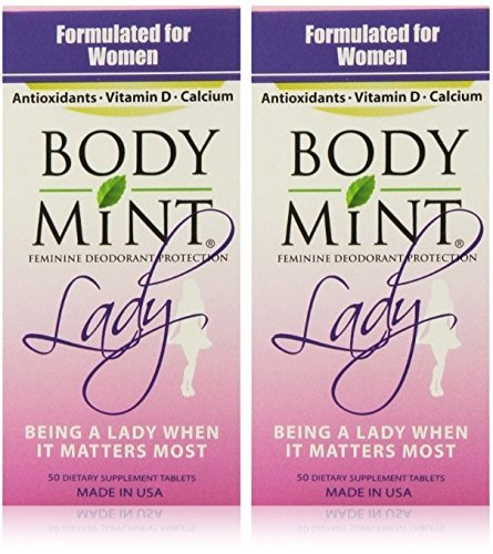 Body Mint Lady for Feminine Deodorant Protection (2 Pack) ()