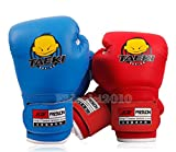 New PU Kids Children Cartoon Sparring dajn Boxing Gloves Training 4oz Age 5-10 Blue