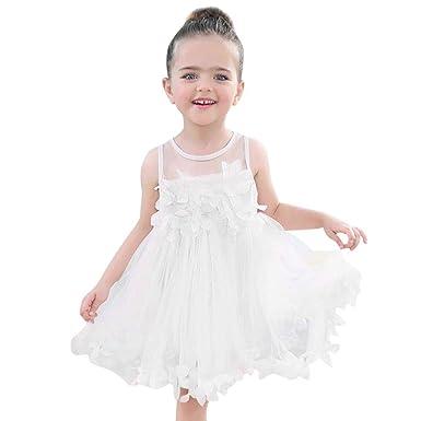 OPAKY Ropa de Bebe de Verano para Niñas Apliques Princesa Vestido ...
