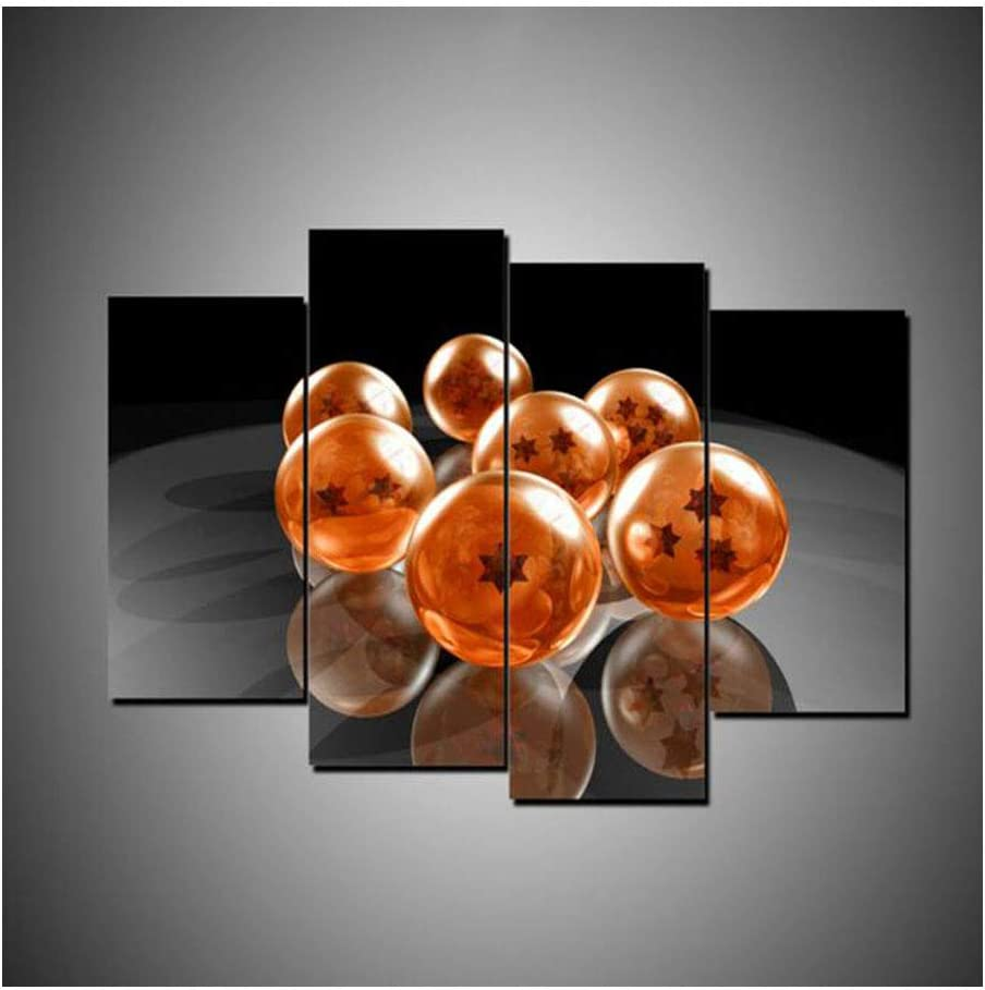 No Frame 4 Piece HD Print Large Dragon Ball Exoplanet Cuadros Decoracion Paintings on Canvas Wall Art for Home Decorations Wall Decor