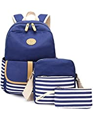 Abshoo Causal Travel Canvas Rucksack Backpacks for Girls School Bookbags