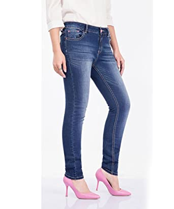 eab1bb538e9b68 YuanDian Damen Herbst Winter Lässige Große Größen Slim Fit Normaler Bund Stretch  Jeans Mode Frauen Skinny Knöchel Bleistift Denim Jeans Lang Hose: ...