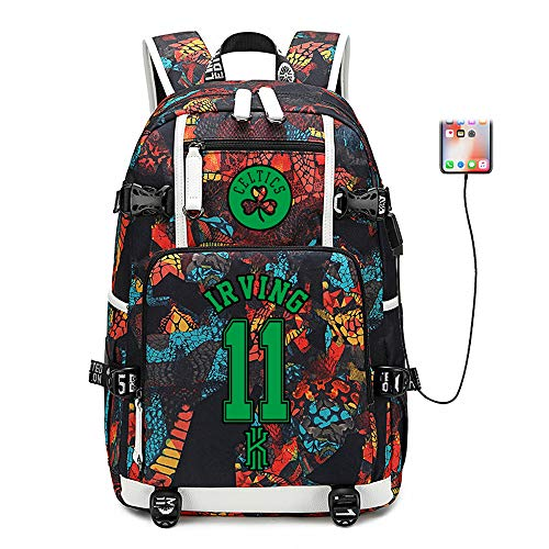 Jordan Basketball Player - Basketball Player Star Irving Multifunction Backpack Travel Student Backpack Fans Bookbag for Men Women (Style 4)