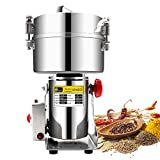 2500g Commercial Electric Grain Grinder Mill Spice Grinder Grain Powder Grinder Grinding Machine Chinese medicine Spice Herb Grinder Flour Mill Pulverizer Food Grade Stainless Steel CE approved