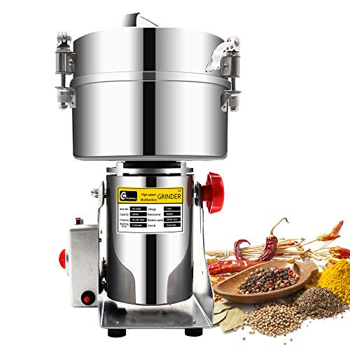 ctric Grain Grinder Mill Spice Grinder Grain Powder Grinder Grinding Machine Chinese medicine Spice Herb Grinder Flour Mill Pulverizer Food Grade Stainless Steel CE approved ()