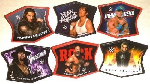 CakeDrake WWE Wrestling Ringleaders CENA Ambrose Roman ROCK 24 Topper Decors Cupcake RINGS ()
