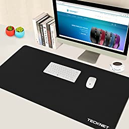 TeckNet XXL Gaming Mouse Pad - 35.4x17.7x0.1inch Dimension - Non-slip Rubber base - Special-Textured Surface