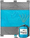 Sun Nomad Ripstop Beach & Picnic Blanket - Super Sand Proof - XXL Oversized Family Mat - Cool Unique Present Idea Him, Her, Men, Women & Kids - Best Camping Present Outdoor Lovers
