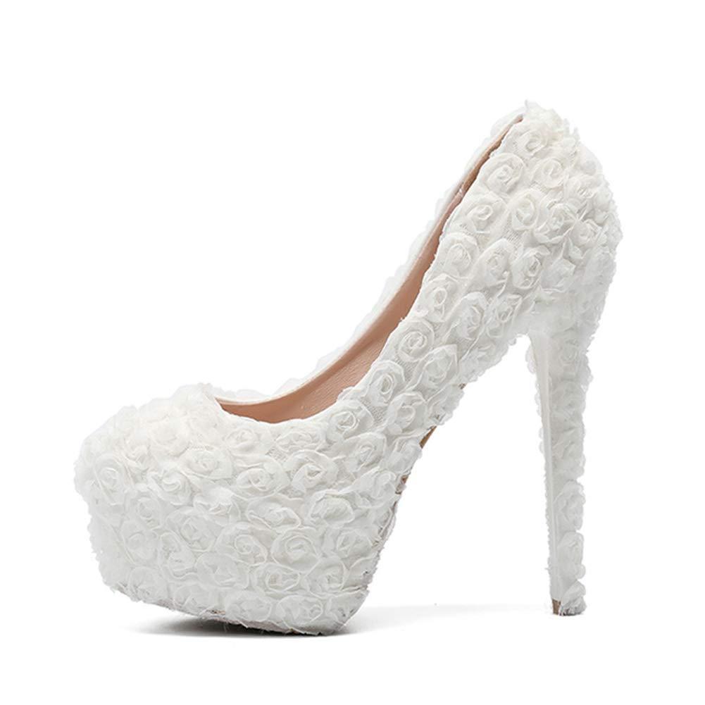 HNM Brautschuhe schuhe Damen Brautschuhe HNM Hochzeitsschuhe Stöckelschuhe Abendschuhe Pumpe Party Schuhe Schlüpfen Stiletto Plattform Geschlossener Zeh Spitze Blaume Rot Weiß 3dd3dc