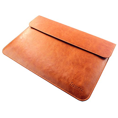 Macbook Air 11.6 Inch Leather Sleeve Case, Brown Laptop Case for Apple Macbook Air 11.6 Inch New and Old Version - Retail Packaging (Brown) by Brila