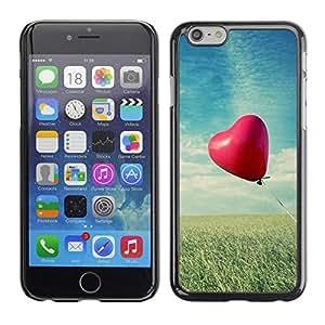 PC/Aluminum Funda Carcasa protectora para Apple Iphone 6 Plus 5.5 Love Balloon Love / JUSTGO PHONE PROTECTOR
