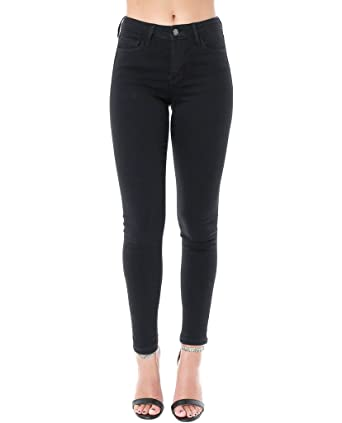 9f1b044f6ed Vervet by Flying Monkey ShopPiin Black Skinny Jeans Ankle Cropped ...
