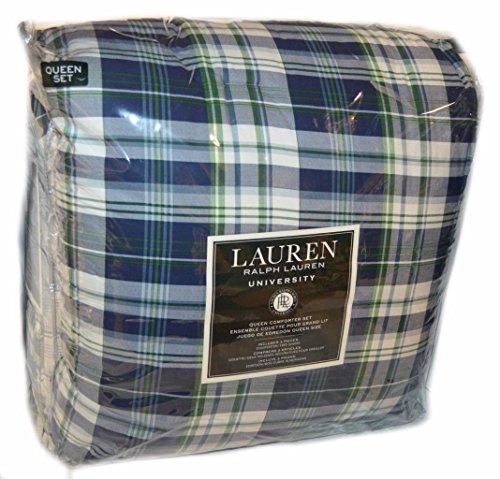 Ralph Lauren Lauren University Greeley Plaid Queen Comforter Set - 3 Pieces