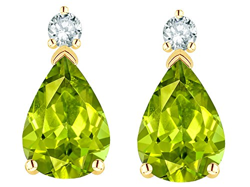 Star K Solid 14k Gold 8x6mm Pear Shape Classic Drop Earring Studs