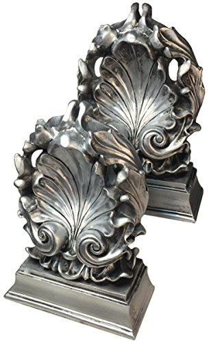 Manual Antiqued Leaves Decorative Bookends RMGFLB, Set of 2, 5