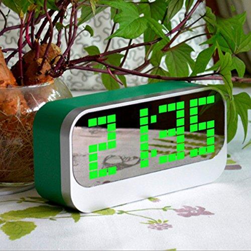 Digital Alarm Clock, AnGeer LED Digital Alarm Clock with Big LCD Screen(Green)