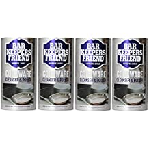 Bar Keepers Friend COOKWARE Cleanser & Polish Powder - 12 Oz , Pack of 4