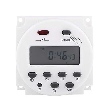 Akozon Temporizador Digital Programable CD Programable Semanal Semanal Microordenador Interruptor de Tiempo (220V): Amazon.es: Bricolaje y herramientas