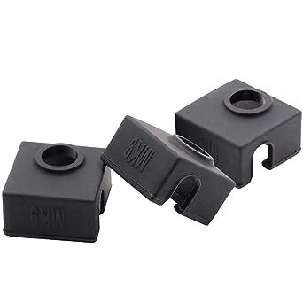 Cubierta de silicona para impresora 3D MK7 MK8 MK9 Hotend para ...