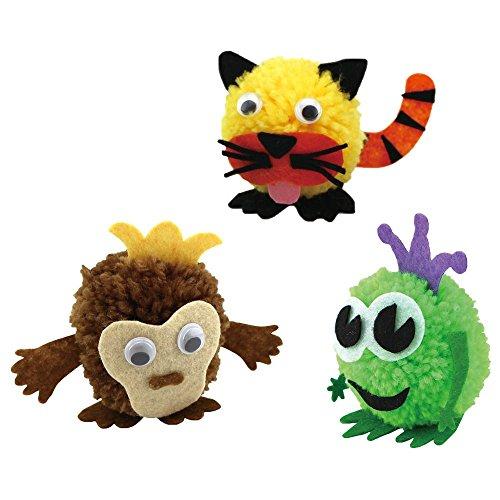- DIY Monkey, Tiger, & Frog Pom Pom Pals Kit