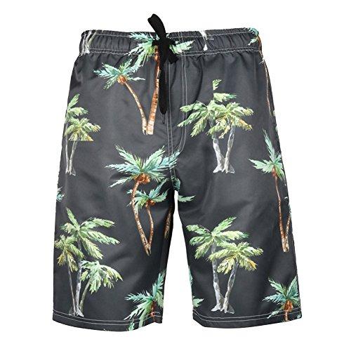 Meykiss Men's Quick Dry Short Swim Trunks Hawaiian Bright Colored