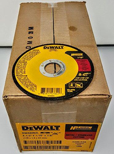 Dewalt DWA8062L 4-1/2 inch x 1/16 inch x 7/8 inch Type 1 Metal Cutoff Wheel (100)