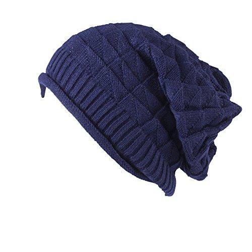 Colección de gorros de montaña combados, flexibles de punto con patrón de croché Style 06
