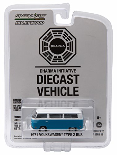 Green Guy From Star Wars (1971 VOLKSWAGEN TYPE 2 BUS (T2B) DARMA VAN from the classic television show LOST * GL Hollywood Series 12 * 2016 Greenlight Collectibles Limited Edition 1:64 Scale Die Cast Vehicle)