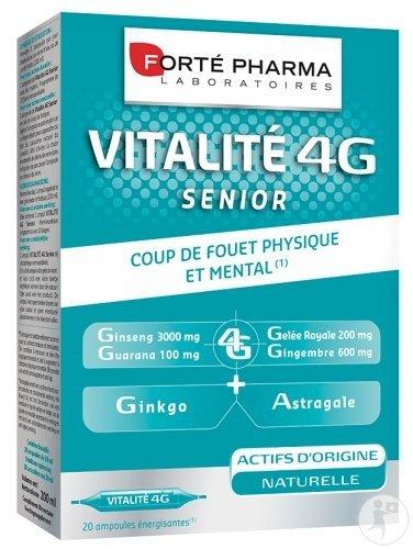 Forté Pharma Vitalité 4G Sénior 20 ampoules: Amazon.es: Salud y cuidado personal