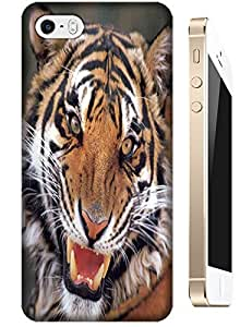 Tiger Case Cover Hard Back Cases Beautiful Nice Cute Animal hot selling cell phone cases for Apple Accessories iPhone 5/5S # 19
