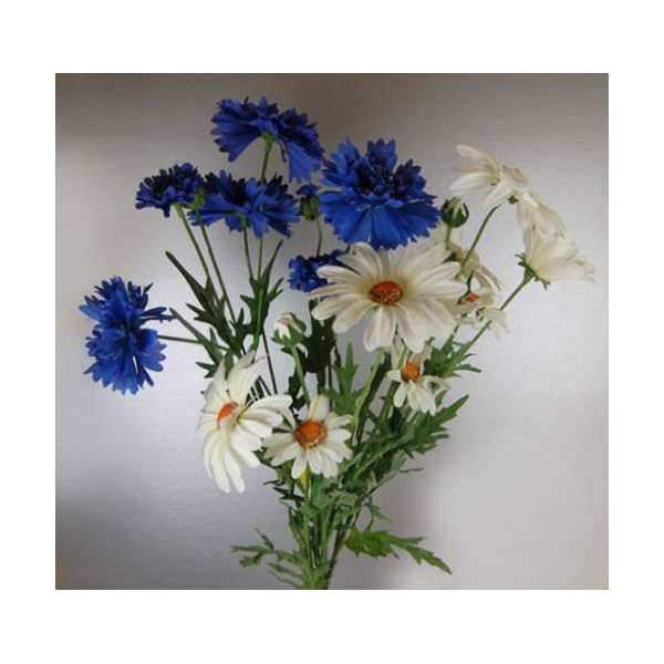 CB Imports Bunch of Artificial Silk Daisies and Cornflowers