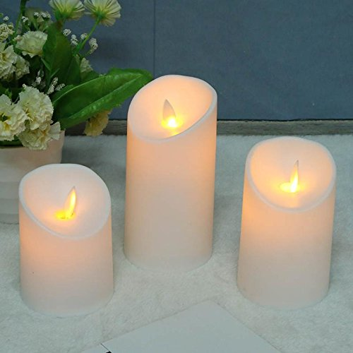 BIN BON - 3pcs Battery Operated Creative LED Candle Long Lasting Bright Flameless LED Candle Lights Lamps Household Decoration Gifts