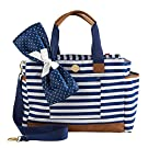 Mud Pie Bigger Bundle Diaper Bag Tote, Navy