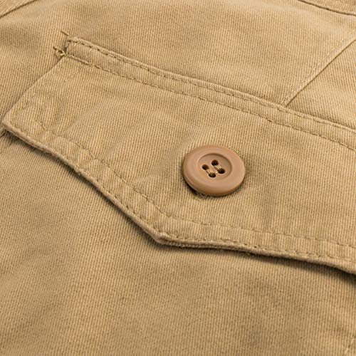 Extérieur Pantalons Combinaison Multiples Pour À Pantalon Poches Kaki Holywin Décontracté Hommes Unie OdqU48Uw