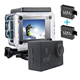 1080P WIFI Sports Action Camera Ultra HD Waterproof DV Camcorder 12MP Wide Angle With 2 Batteries