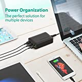 RAVPower 60W 12A 6-Port USB Charger Desktop Charger Charging Station with iSmart Technology